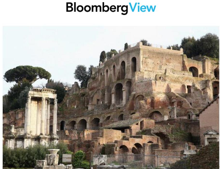 """מתוך בלומברג: הפסיקו להשוות את ארה""""ב לנפילתה של רומא"""